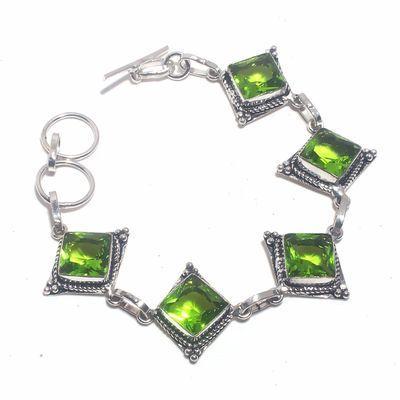 Per 690d bracelet peridot 17gr 10x10mm achat vente bijou ethnique argent 925