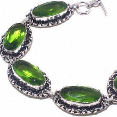 Per 704c bracelet peridot 21gr 10x20mm achat vente bijou ethnique argent 925