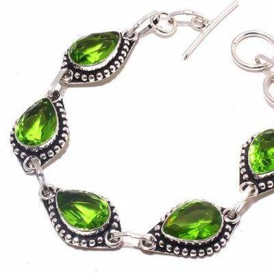 Per 710b bracelet peridot 18gr 10x15mm achat vente bijou ethnique argent 925