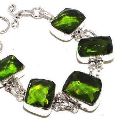 Per 711b bracelet peridot 32gr 20x15mm achat vente bijou ethnique argent 925