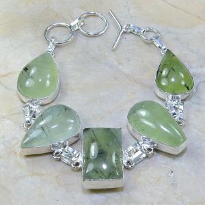 Prn 025a bracelet prehnite achat vente bijou argent 925