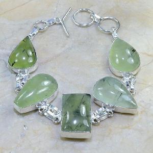 Prn 025c bracelet prehnite achat vente bijou argent 925