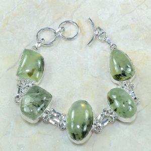 Prn 028a bracelet prehnite achat vente bijou argent 925