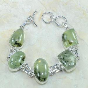 Prn 028c bracelet prehnite achat vente bijou argent 925