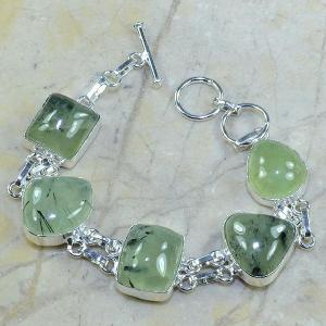 Prn 029a bracelet prehnite achat vente bijou argent 925