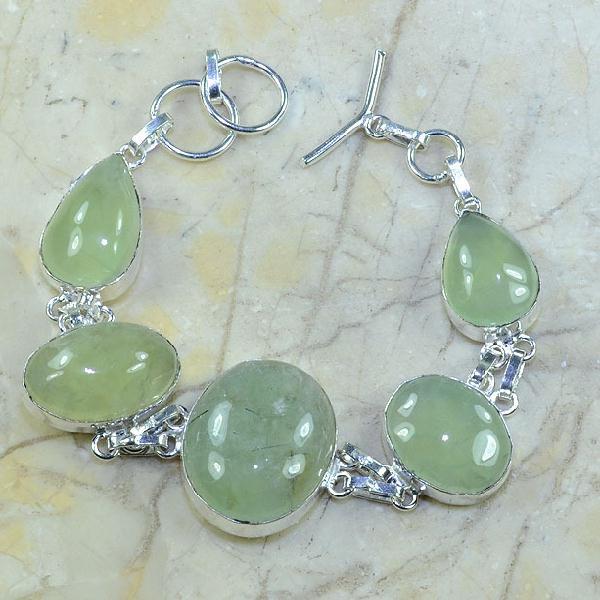 Prn 039a bracelet prehnite achat vente bijou argent 925