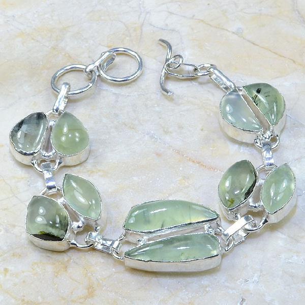 Prn 047a bracelet prehnite achat vente bijou argent 925