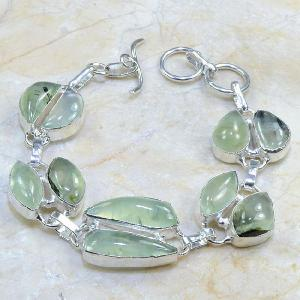 Prn 047c bracelet prehnite achat vente bijou argent 925