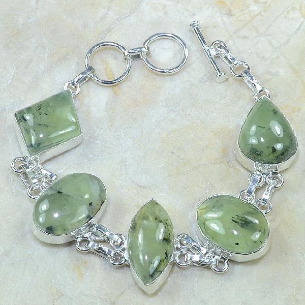Prn 051a bracelet prehnite achat vente bijou argent 925