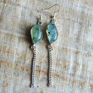 Prn 053b boucles pendants oreilles prehnite argent 925 achat vente bijou