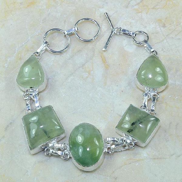 Prn 066a bracelet prehnite achat vente bijou argent 925