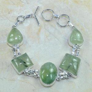 Prn 066d bracelet prehnite achat vente bijou argent 925