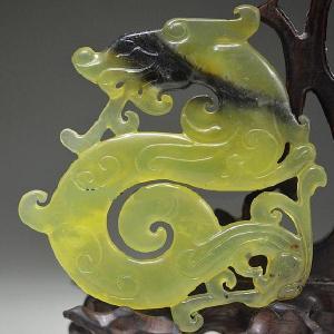 Prn 068a pendentif dragon drakar viking prehnite pendant achat vente bijou argent 925