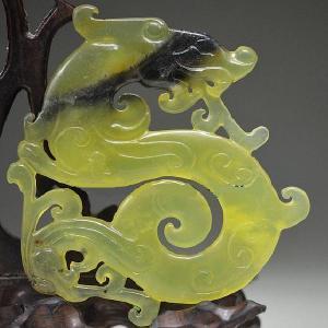 Prn 068b pendentif dragon drakar viking prehnite pendant achat vente bijou argent 925