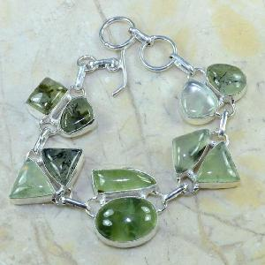 Prn 070d bracelet prehnite achat vente bijou argent 925