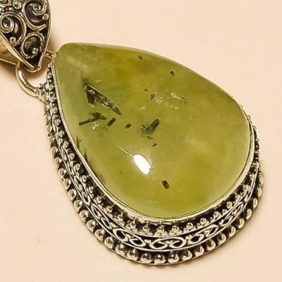 Prn 128c pendentif prehnite pendant achat vente bijou argent 925
