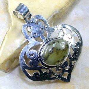 Prn 132a pendentif pendant prehnite achat vente bijou argent 925
