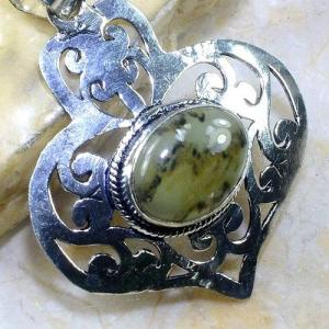 Prn 132c pendentif pendant prehnite achat vente bijou argent 925