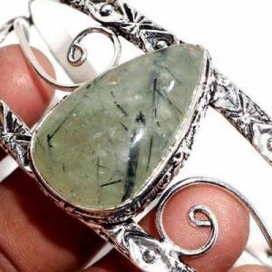 Prn 238c bracelet torque 20x30mm 36gr prehnite verte ethnique achat vente bijou argent 925