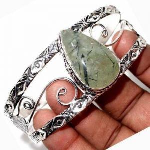 Prn 238d bracelet torque 20x30mm 36gr prehnite verte ethnique achat vente bijou argent 925