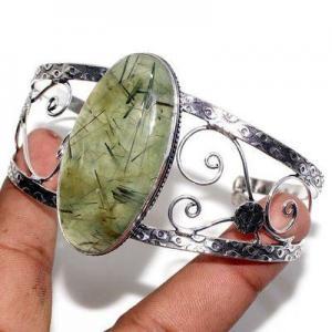 Prn 239a bracelet torque 25x50mm 43gr prehnite verte ethnique achat vente bijou argent 925