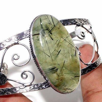 Prn 239b bracelet torque 25x50mm 43gr prehnite verte ethnique achat vente bijou argent 925