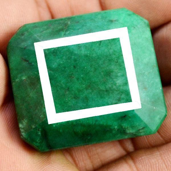 Pt 0006a emeraude verte inde pierre taillee facettee collection loisirs creatifs achat vente