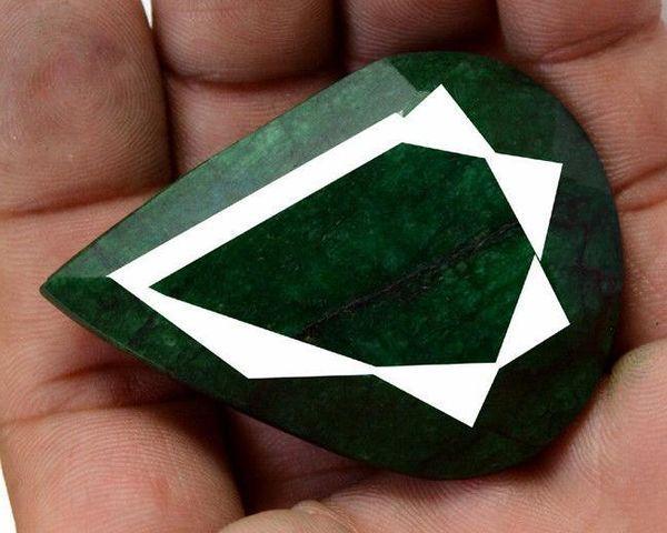 Pt 0035a emeraude verte inde pierre taillee facettee collection loisirs creatifs achat vente