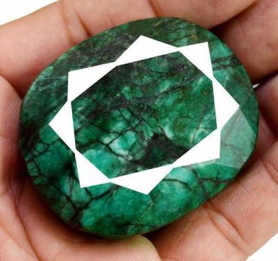 Pt 0036a emeraude verte inde pierre taillee facettee collection loisirs creatifs achat vente