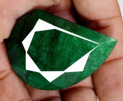 Pt 0049c emeraude verte inde pierre taillee facettee collection loisirs creatifs achat vente