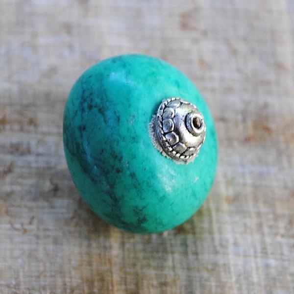 Ptq 010c perles turquoise tibetaine 26x25mm achat vente loisirs creatifs