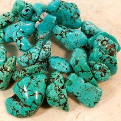 Ptq 025a perle turquoise naturelle bleue 20x30x35 achat vente loisirs creatifs