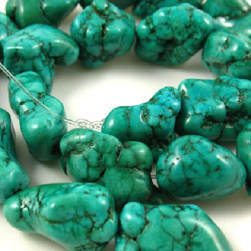 Ptq 028a perle turquoise naturelle bleue 15x15 achat vente loisirs creatifs