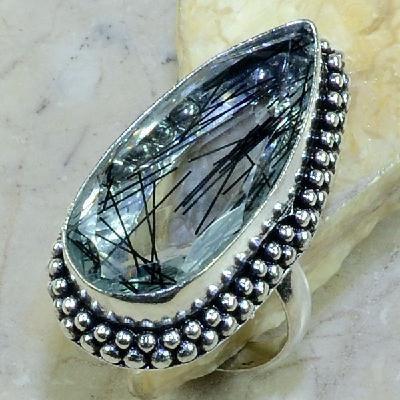 Qz 0069a bague t62 quartz tourmaline achat vente bijou argent 925