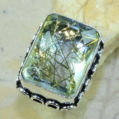Qz 0086a bague t56 medievale quartz rutile bijou achat vente argent 925
