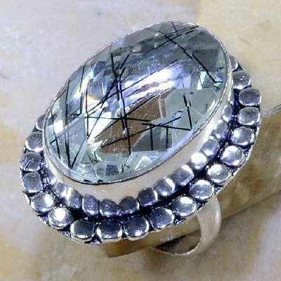 Qz 0093a bague t58 quartz tourmaline achat vente bijou argent 925