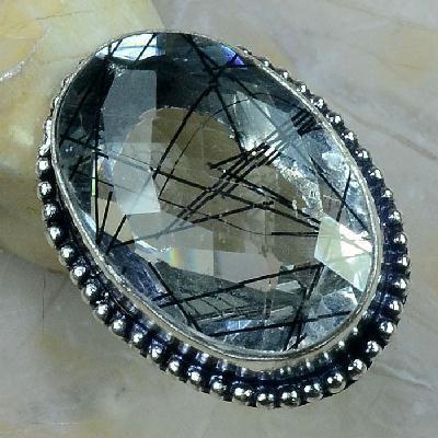 Qz 0101a bague t56 quartz tourmaline achat vente bijou argent 925