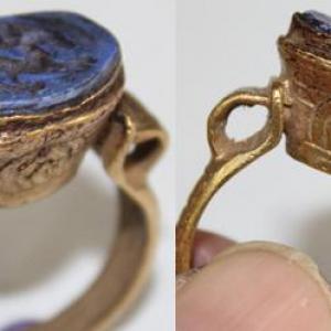 Ro 0007 bague romaine intaille lapis lazuli intaille 2