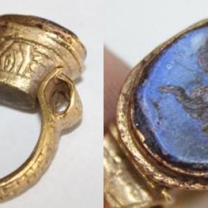 Ro 0007 bague romaine intaille lapis lazuli intaille 3