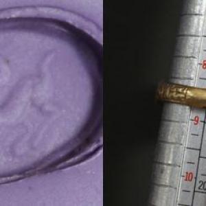 Ro 0007 bague romaine intaille lapis lazuli intaille 4
