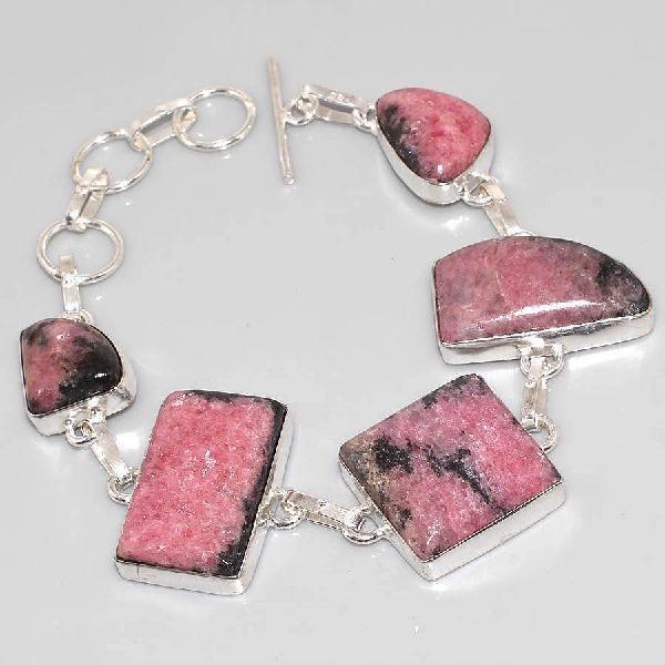 Rod 004a bracelet rhodonite achat vente bijou argent 925