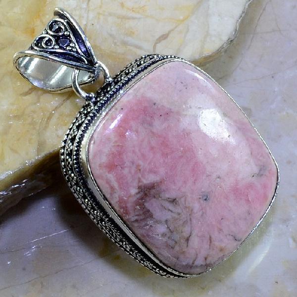 Rod 007a pendant pendentif rhodonite achat vente bijou pierre naturelle lithotherapie argent 925