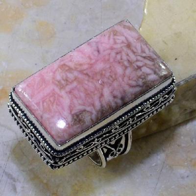 Rod 009a bague chevaliere t56 rhodonite achat vente bijou pierre lithotherapie argent 925
