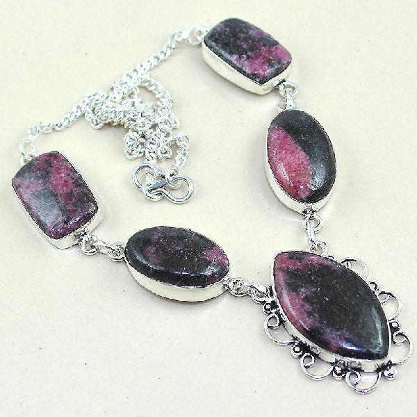 Rod 010a collier rhodonite parure sautoir achat vente bijou pierre naturelle lithotherapie