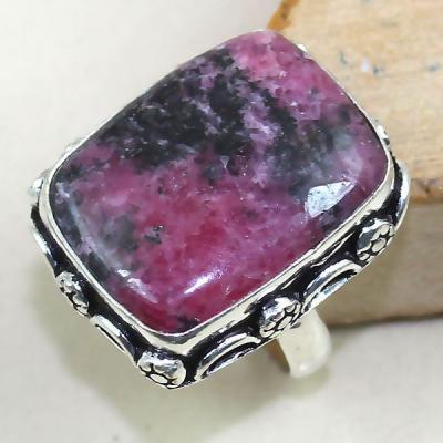 Rod 018a bague chevaliere t57 rhodonite achat vente bijou pierre lithotherapie argent 925 1