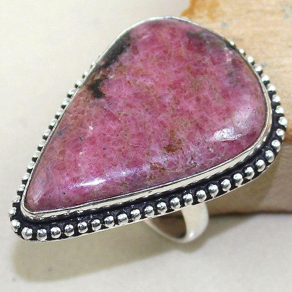 Rod 021a bague chevaliere t59 rhodonite achat vente bijou pierre lithotherapie argent 925 1