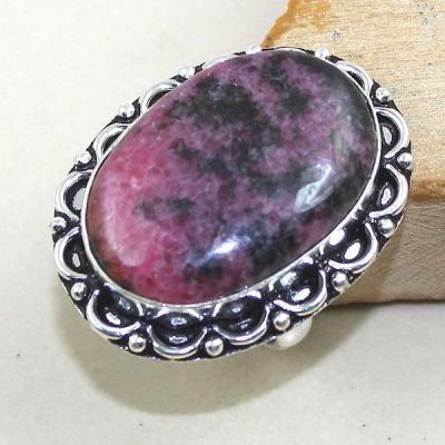 Rod 022a bague chevaliere t61 rhodonite achat vente bijou pierre lithotherapie argent 925 1