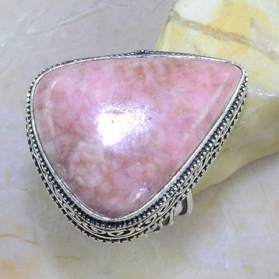 Rod 023a bague chevaliere t59 rhodonite achat vente bijou pierre lithotherapie argent 925 1