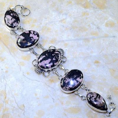 Rod 026a bracelet rhodonite achat vente bijou pierre lithotherapie argent 925 1