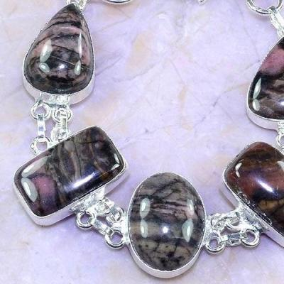 Rod 027c bracelet rhodonite achat vente bijou pierre lithotherapie argent 925 1